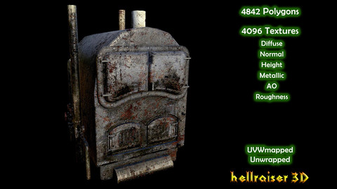Boiler Furnace - PBR - Old Textured