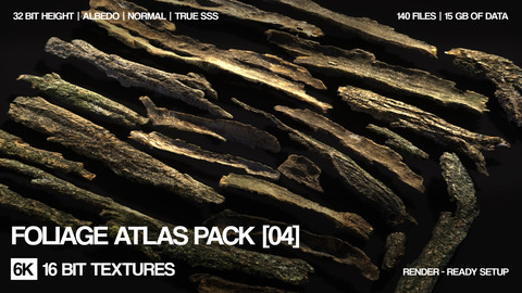 6K Foliage atlas pack | 140 files | 16 bit