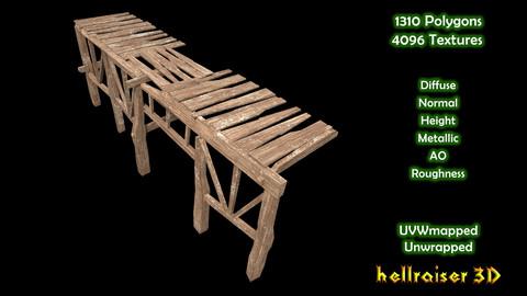 Wooden Platform - PBR - Textured