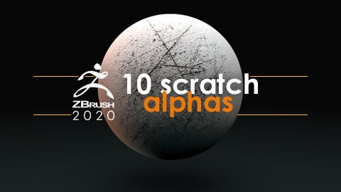 10 Scratch Alphas for ZBrush & Blender