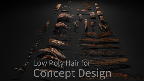 Low Poly Hair for Concept Design