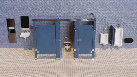 Public Restroom Asset Pack