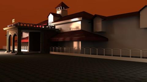 Bandra Station Mumbai(India)  3d (Maya)Model Without Textures