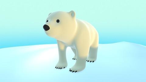 Polar Bear Cub - Stylized