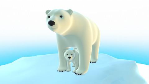 Polar Bear Pack - Stylized