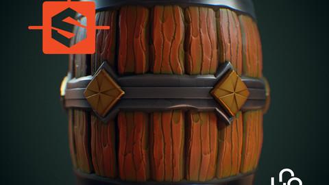 Substance Designer Tutorial - Stylized Wood Barrel