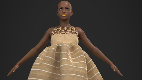 BUBU ASO OKE 3D African Design Ready To Use In Your Project - Marvelous Designer / Clo3d project + Cinema 4D + FBX + Materials