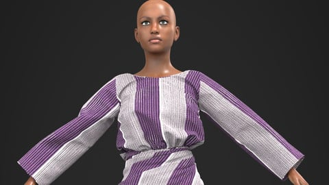 IRO ATI BUBBA ASO OKE 3D African Design Ready To Use In Your Project - Marvelous Designer / Clo3d project + Cinema 4D + FBX + Materials