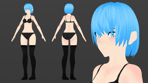 Anime Female V1 Base for VRChat