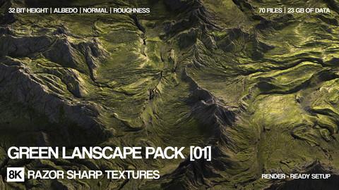 8K Green lansdcape pack | 01 | PBR