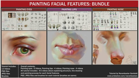 Painting facial features: Bundle
