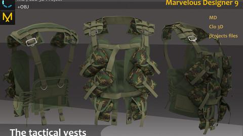 Tactical backpack/bag project. Clo3d, Marvelous designer.