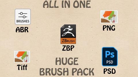 Zbrush HUGE Alpha - Brush Pack - 28 pcs