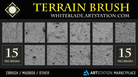 Moon Terrain Brushes Vol.02 - FREE