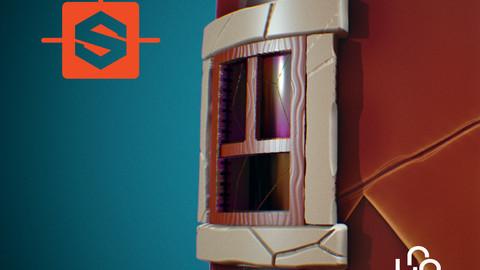 Window on a Broken Wall | Substance Designer