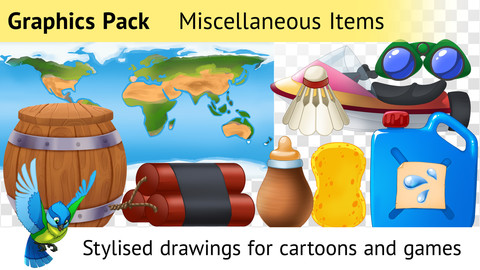 Graphics Pack—83 Drawings for Cartoons and Games