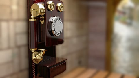 Wall Mounted Retro Phone