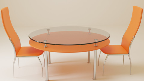 Glass Table for Kitchen with chairs