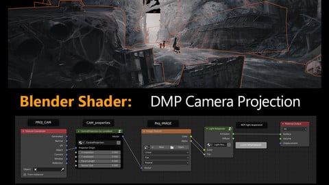 Blender Shader: DMP Camera Projection