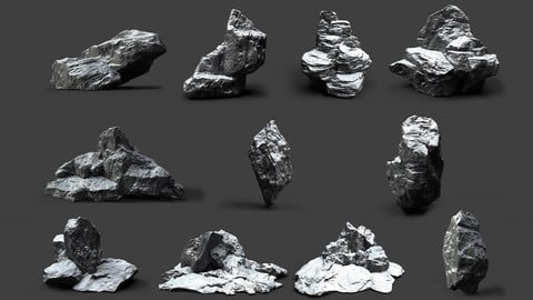 Snowy Rock Collection 004