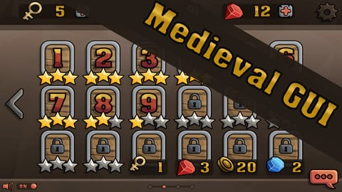 Medieval GUI - Vector + Raster Graphics
