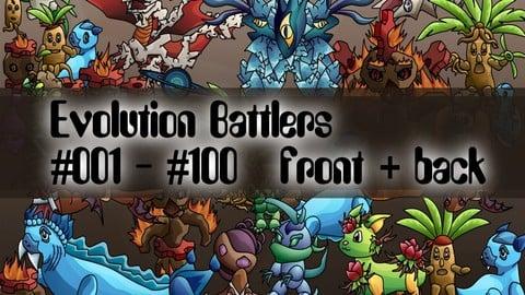 Evolution Monsters #001 - #100 Pack