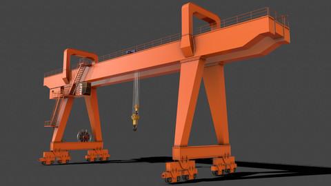 PBR Double Girder Gantry Crane V2 - Orange