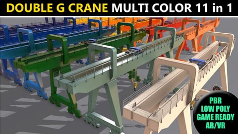 PBR Double Girder Gantry Crane V2 - Multi color Pack