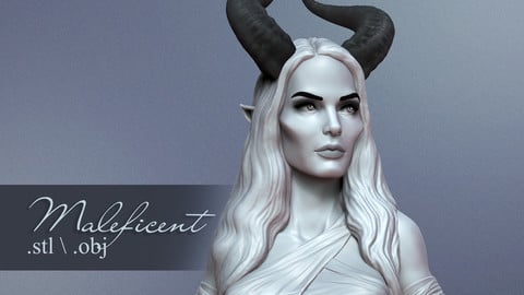 Maleficent - ready for 3d printing