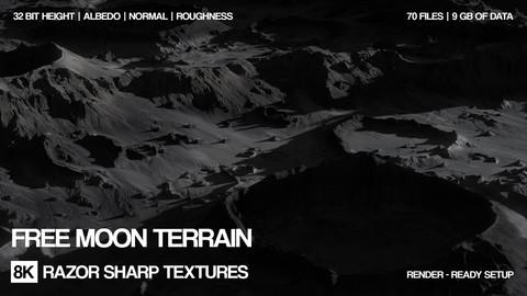 Free 8K Moon terrain | PBR