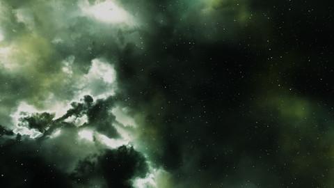 Starfield Green Nebula HDRI 7680x4320 .tif