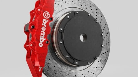 FREE brembo brake disc 3d model (free for only 1 week)