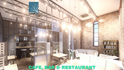 Intimate Cafe, Bar & Restaurant Scene - Lumion