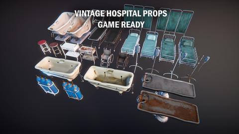 Vintage hospital props