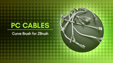 [IMM Brush] Computer Cables IMM Curve Brush for ZBrush 2021
