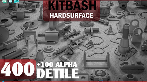 Mega Pack  kitbash 400 DETILS+100 ALPHA
