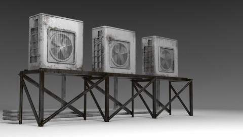 Air conditioner compressor unit