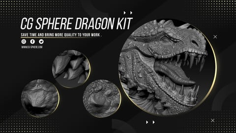 CGSphere Dragon Kit ** VDM Brushes + Model ZTL **