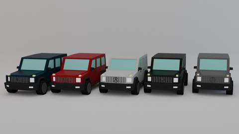 Mercedes G63 Suv Low-poly 3D model