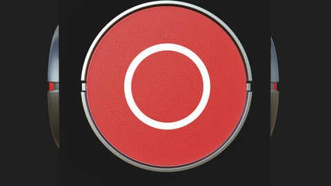Red Button Material Design - Substance Designer