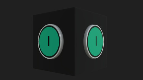 Green Start Button - %100 Substance Designer