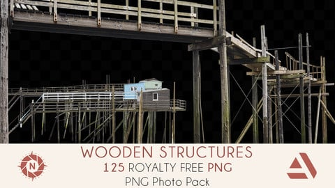 PNG Photo Pack: Wooden Structures