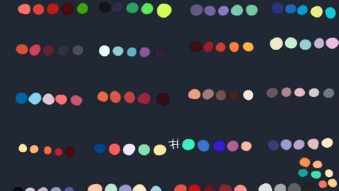 Color Palette 58 for Clip Studio Paint and Ex
