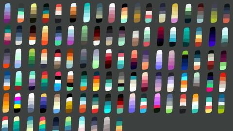 Color Palette 60 for Clip Studio Paint and Ex
