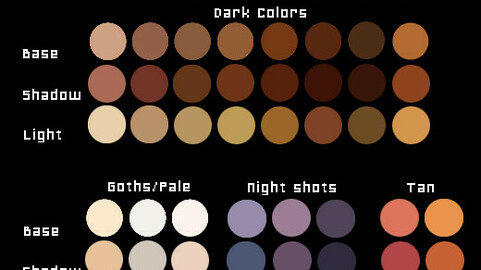 Color Palette 66 for Clip Studio Paint and Ex