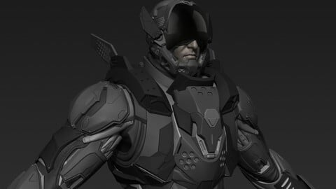 Cyberpunk Male Character Concept