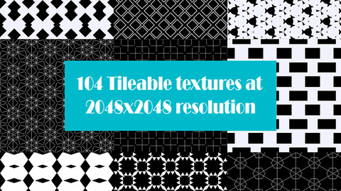 104 Tileable Textures At 2048x2048 Resolution