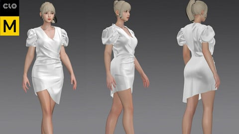 women_s_skirt_formal dress_marvelous designer_zprj