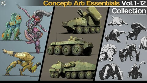 Concept Art Essentials Collection Vol.1-12