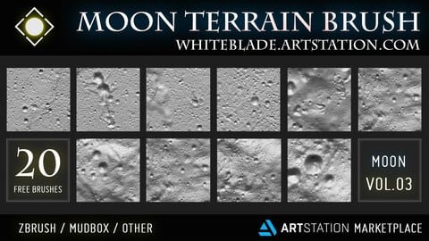 Moon Terrain Brushes Vol.03 - FREE